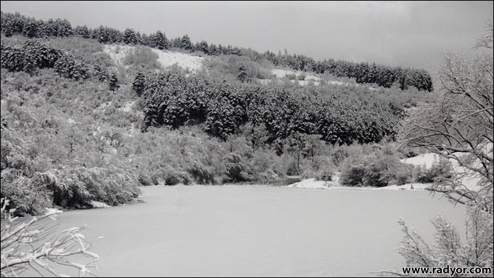 Frozen lake in Bulgaria