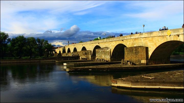 The stone bridge in Regensburg, Germany